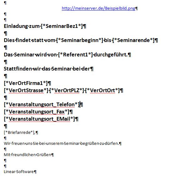 hmtl vorlage mit word erstellen | linear software gmbh, Einladung
