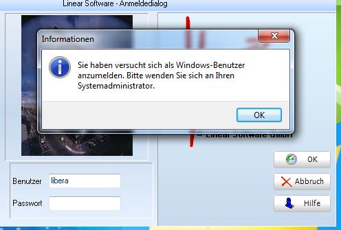 Windows Benutzer Anmeldung Linear